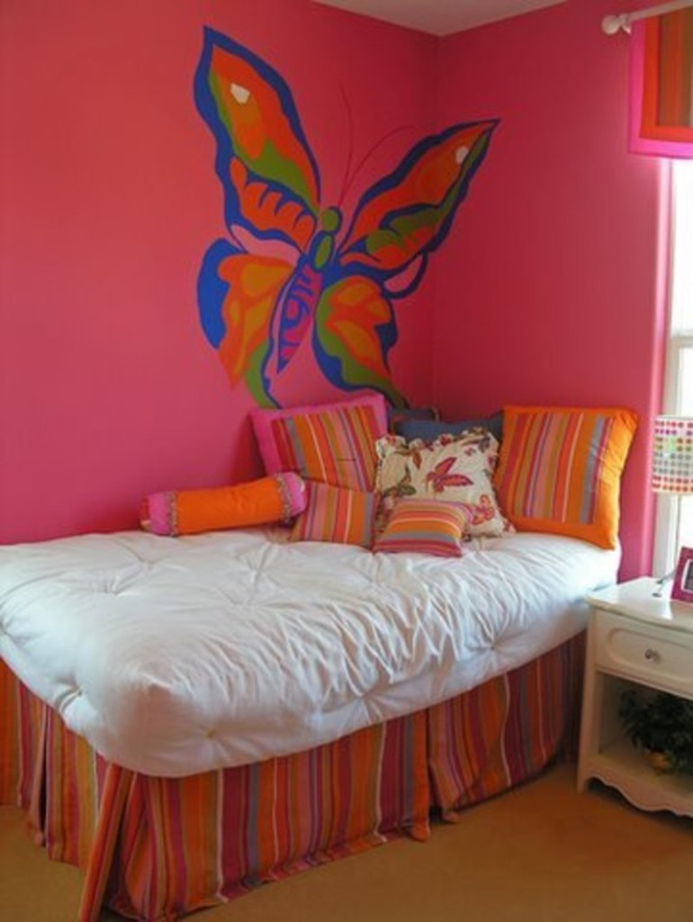butterfly image - Interior Wall Painting Designs
