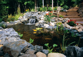 7 ideas for building a koi fish and backyard pond home for Build your own waterfall pond