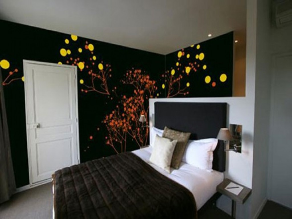 Black Painted Room Ideas 30 wall painting ideas-a brilliant way to bring a touch of