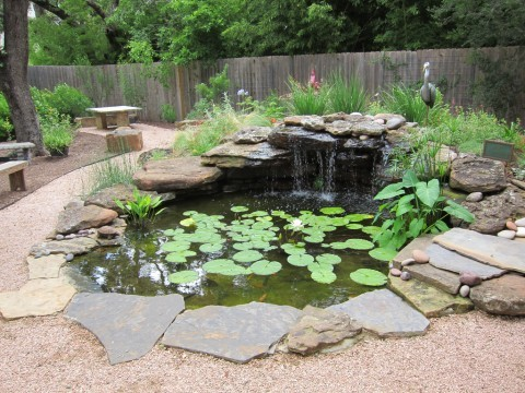 7 ideas for building a koi fish and backyard pond home for Fish pond rocks