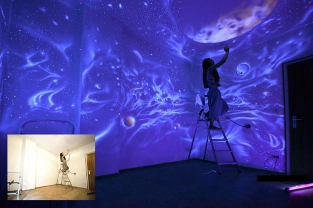 celestial wall painting images