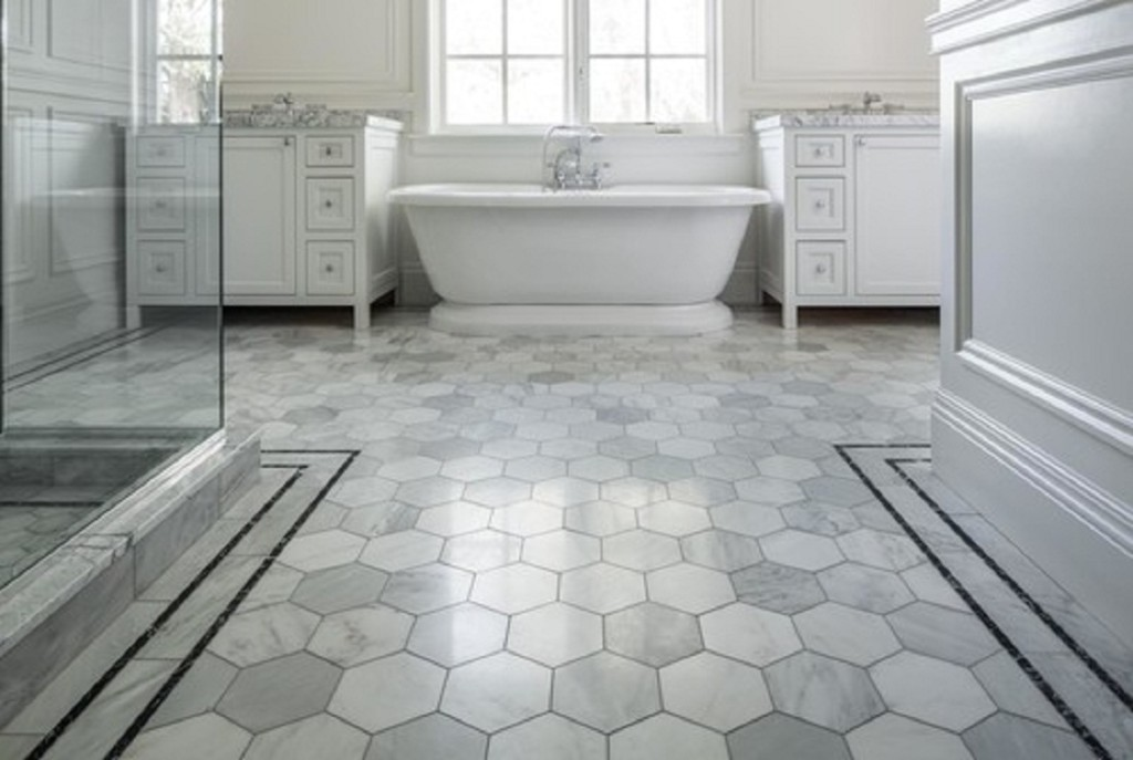 22 bathroom floor tiles ideas give your bathroom a for Classic floor designs