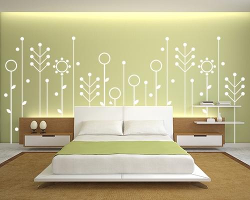 30 wall painting ideas a brilliant way to bring a touch of for Interior wall painting designs