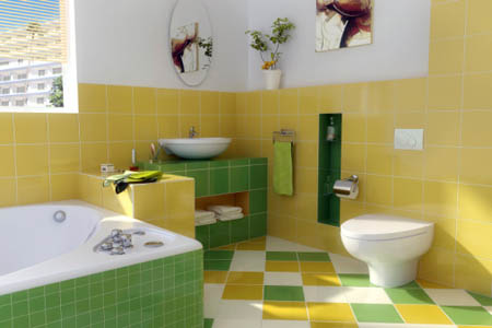 22 bathroom floor tiles ideas give your bathroom a for Warm feel bathroom floor tiles