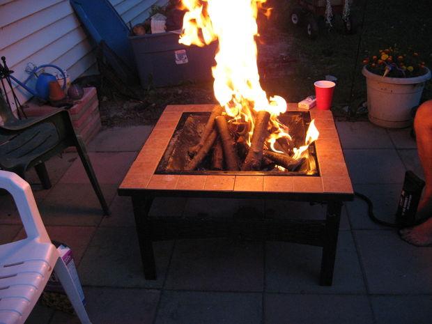 Air Pump Fire Pit