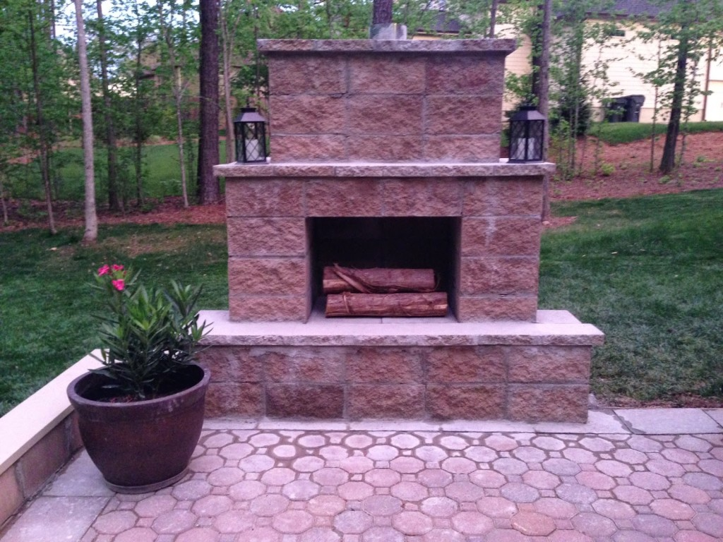 12 outdoor fireplace plans add warmth and ambience to outdoor room
