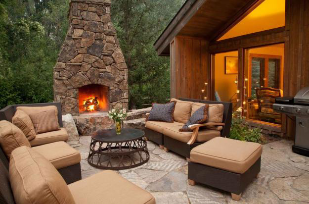 12 Outdoor Fireplace Plans-Add Warmth and Ambience to ... on Simple Outdoor Fireplace Ideas id=55479