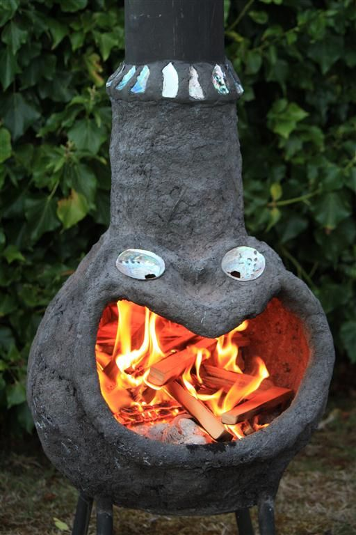 Outdoor fire place (Chimenea) from ferrocement