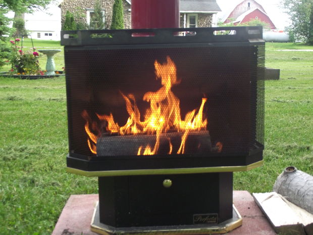 Recycled Gas Fireplace