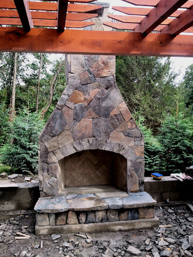 12 Outdoor Fireplace Plans-Add Warmth and Ambience to ... on Simple Outdoor Brick Fireplace id=99980