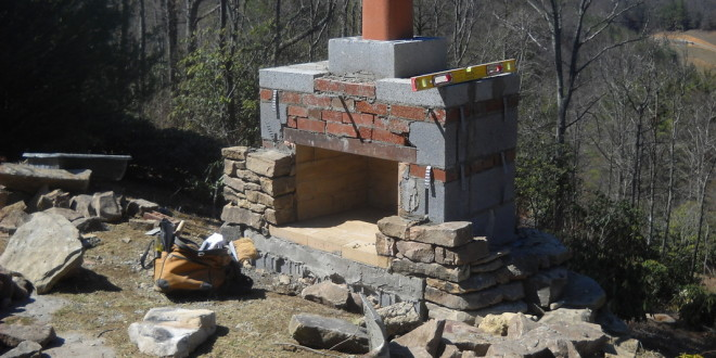 Field Stone Fireplace Makeover