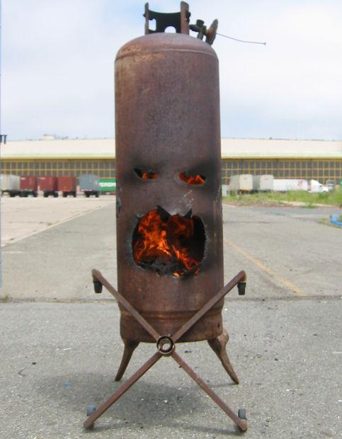 unique outdoor fireplace design
