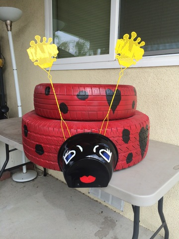 Lady Bug Planter
