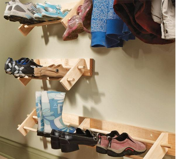 Wall Mounted Shoe Organizer