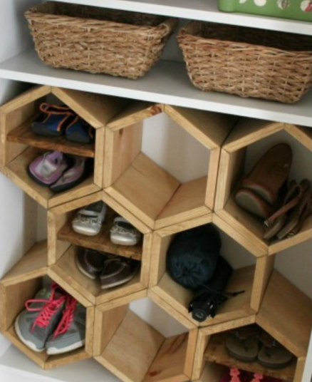make honeycomb shoe rack design - Shoe Rack Plans