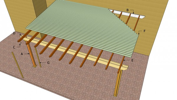 Attached-pergola-components
