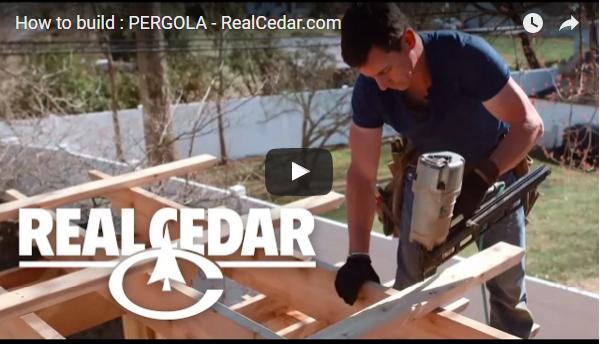 Classic Cedar Pergola