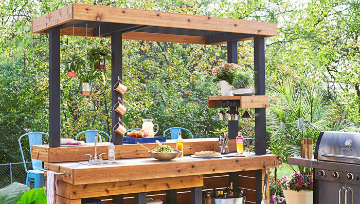 Home And Gardening Ideas \u2013 Home design Decor Remodeling ... & 17 Outdoor Kitchen Plans-Turn Your Backyard Into Entertainment Zone ...
