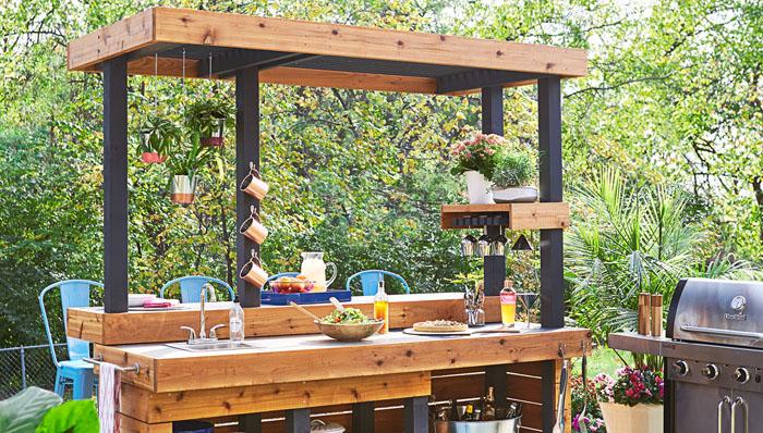 Amazing 27 Outdoor Kitchen Plans Turn Your Backyard Into Beutiful Home Inspiration Semekurdistantinfo