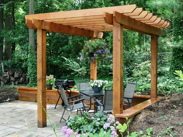 pergola plans 20 diy ideas to add shaded sitting area home and gardening ideas. Black Bedroom Furniture Sets. Home Design Ideas