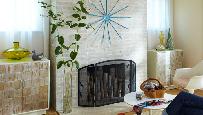 12 brick fireplace makeover ideas to update your old - How to make a brick fireplace look modern ...