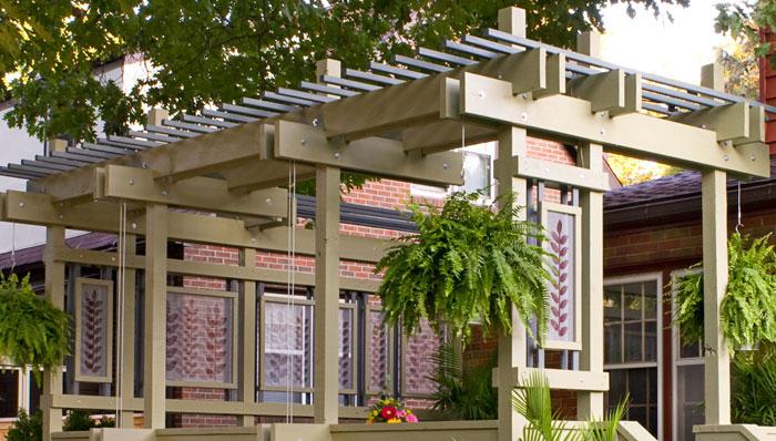 Pergola With Plant Hangers