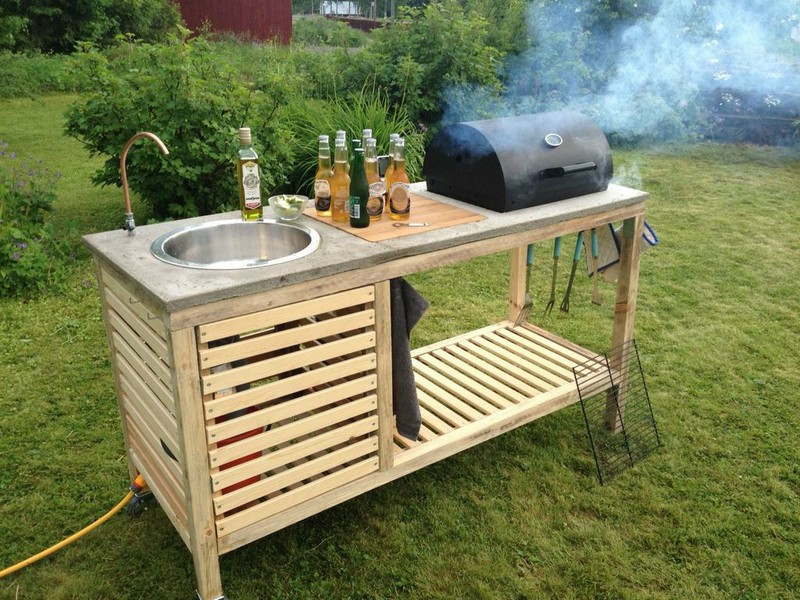 beautiful Outdoor Kitchen Designs Diy #6: Portable Backyard Kitchen