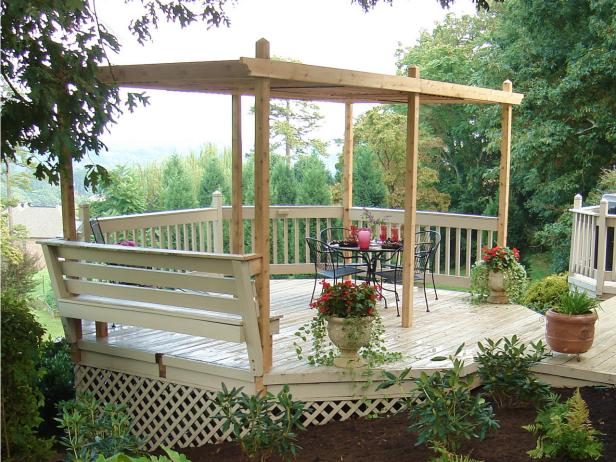 Raised Backyard Pergola