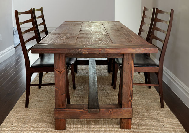15 DIY Farmhouse Table To Create Warm and Inviting Dining  : Rustic Farmhouse Table from hngideas.com size 640 x 450 jpeg 74kB