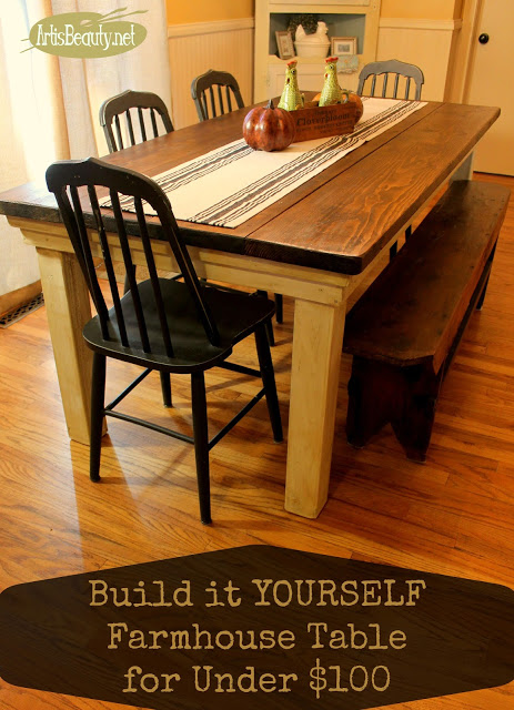 Under $100 Farmhouse Table
