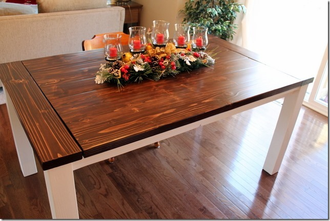 building your own farmhouse table