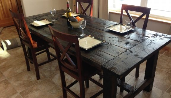 Farmhouse Kitchen Table Large