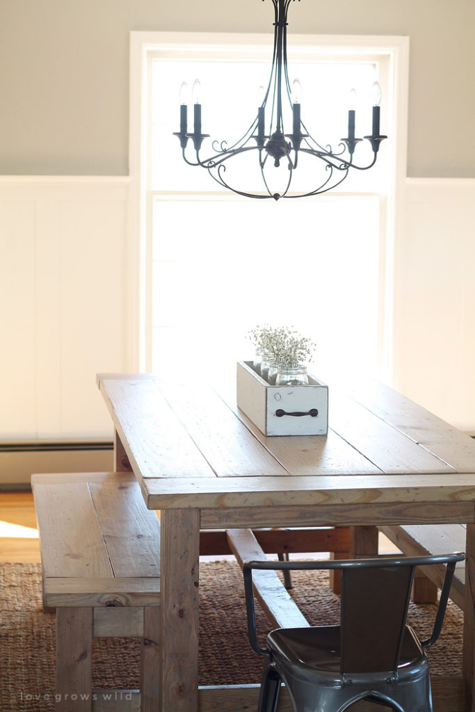 15 diy farmhouse table to create warm and inviting dining for Farmhouse style kitchen table