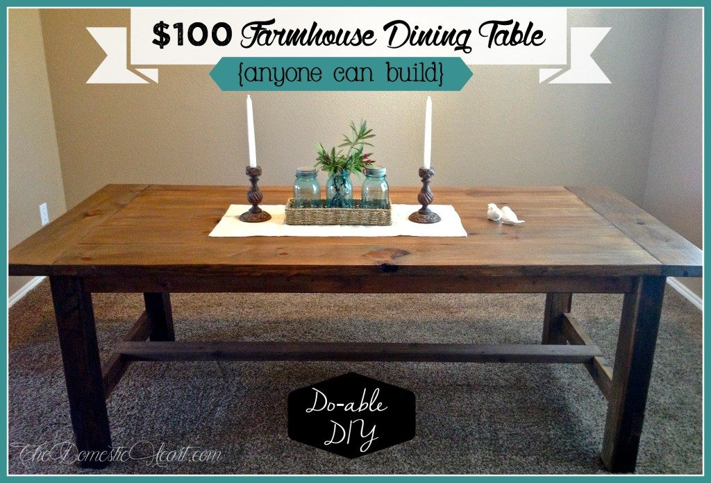 Exceptionnel Diy Farmhouse Table