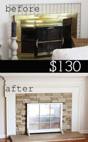 fireplace refacing idea