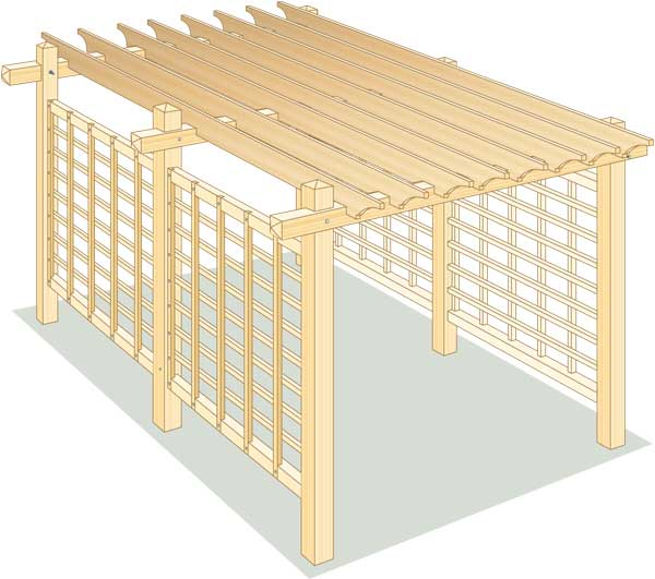 instructions to build a pergola