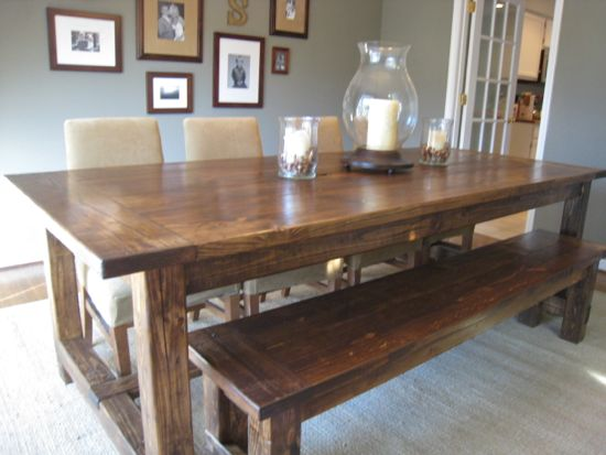 15 diy farmhouse table to create warm and inviting dining area