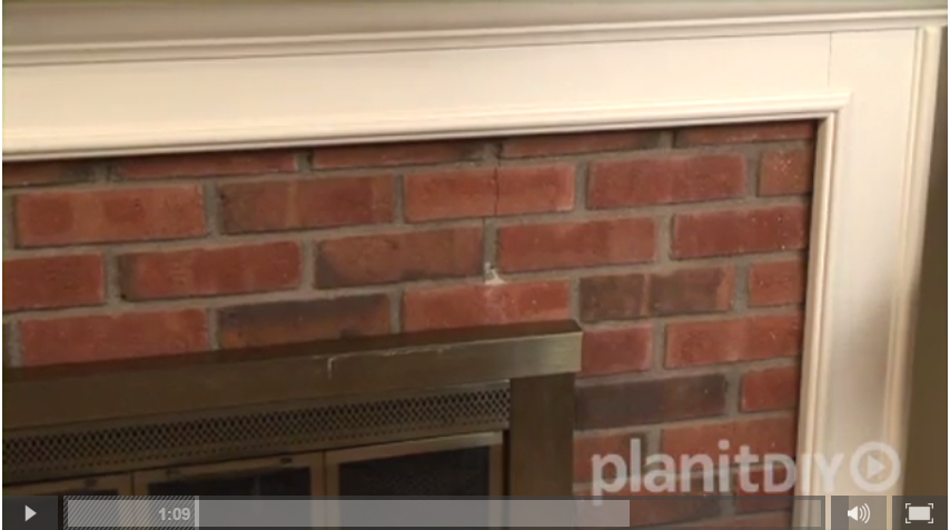 old brick fireplace