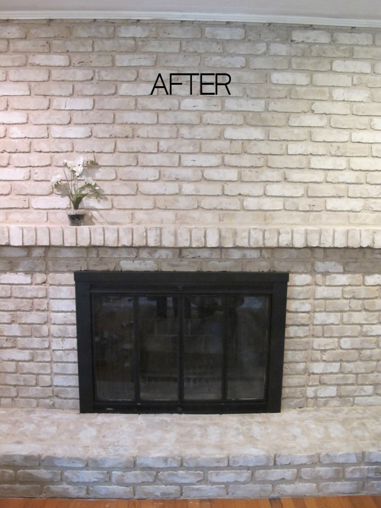 update your old brick fireplace