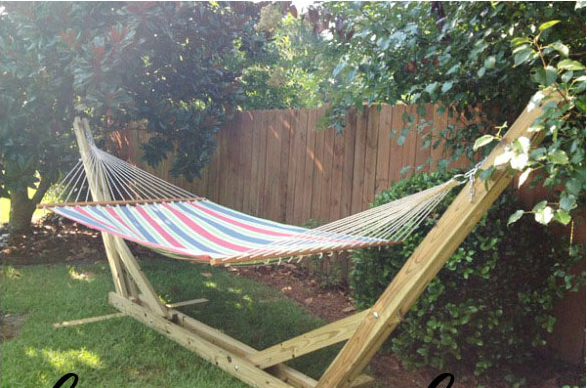 40 hammock stand 15 diy hammock stand to build this summer  u2013 home and gardening ideas  rh   hngideas