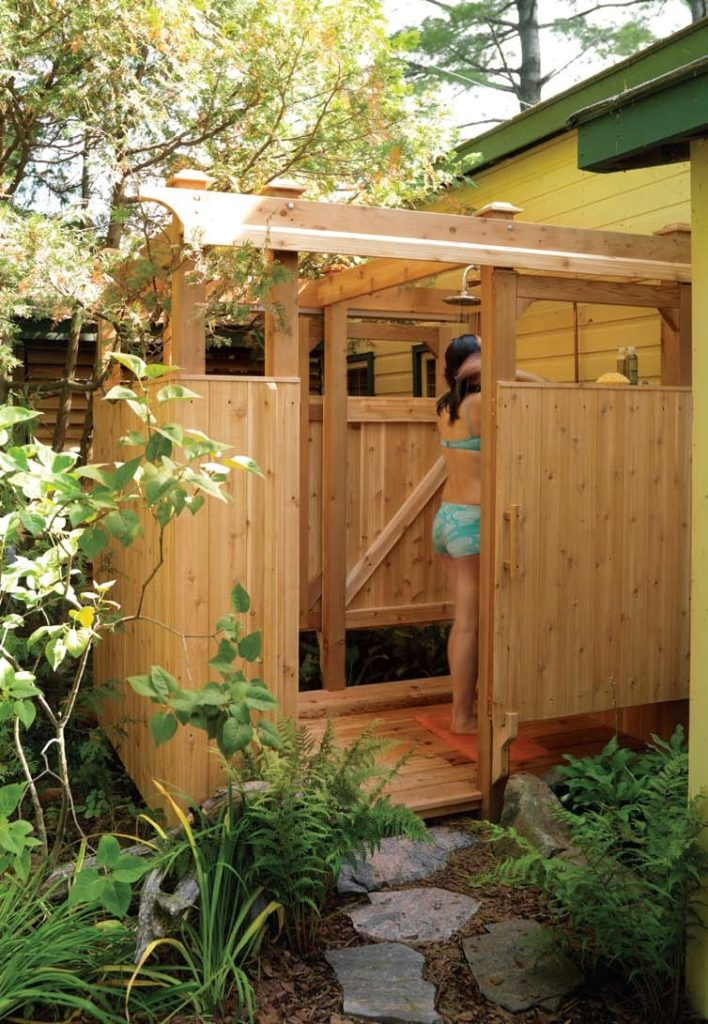 Backyard Pool Bathroom Design Ideas ~ Diy outdoor shower for washing yourself in the fresh