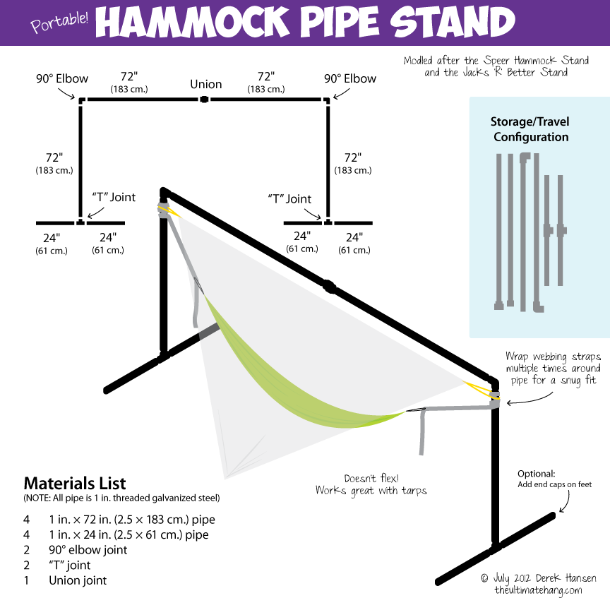 15 diy hammock stand to build this summer home and for Hammock chair stand plans