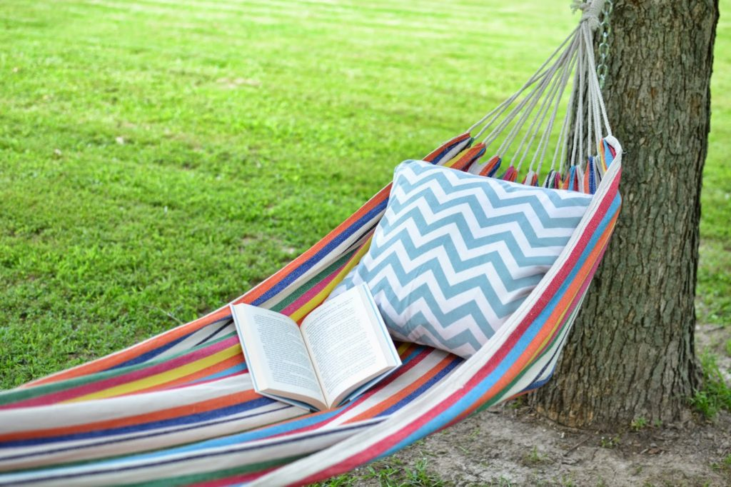 hammock between two trees in your backyard