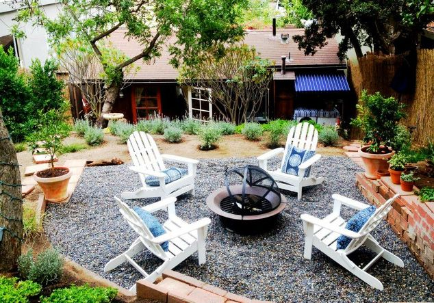 multi-level backyard space