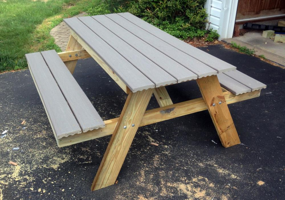 DIY Picnic Table You Can Build In One Day