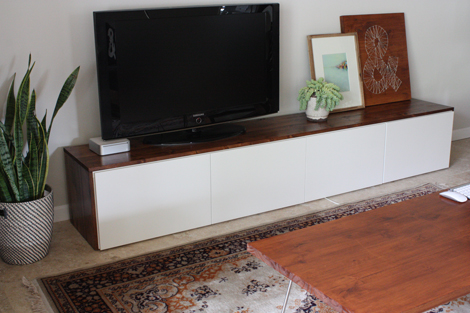 15 diy tv stands you can build easily in a weekend home - Meuble hifi diy ...