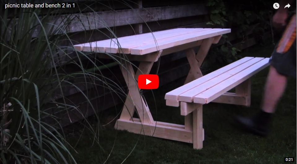 Stupendous 39 Free Picnic Table Plans To Build This Summer Home And Evergreenethics Interior Chair Design Evergreenethicsorg