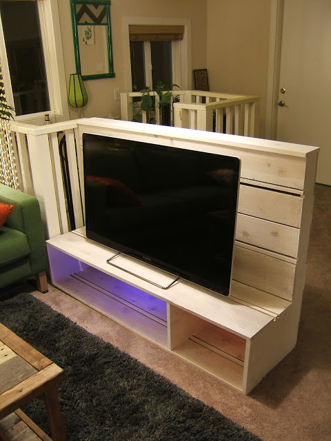 TV Stand with Cubbies