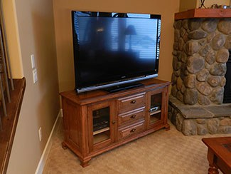 classic style media cabinet