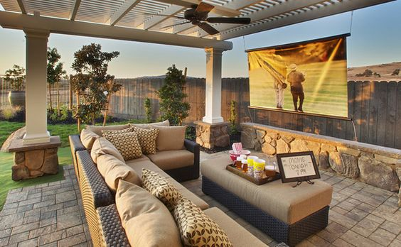 comfortable outdoor patio